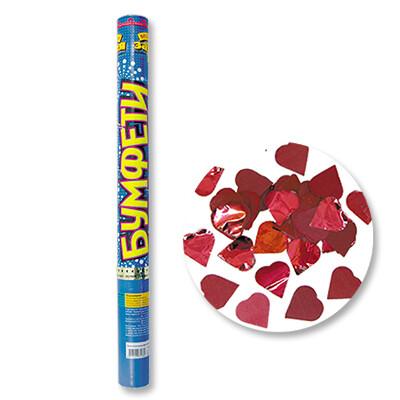 Хлопушка (красные сердца) 60см