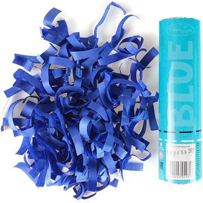 Хлопушка (голубое конфетти) 20см