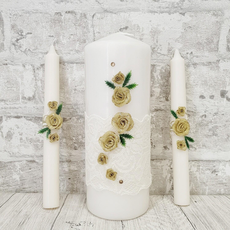 Семейный очаг (белый с золотыми розами)