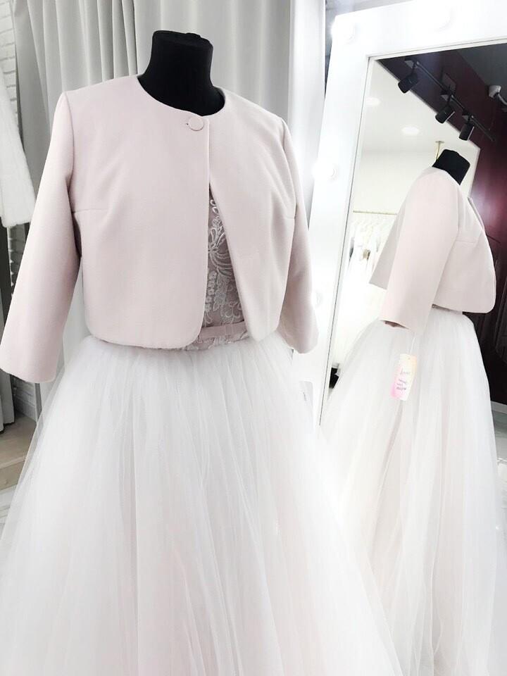 Свадебное пальто (пудра)
