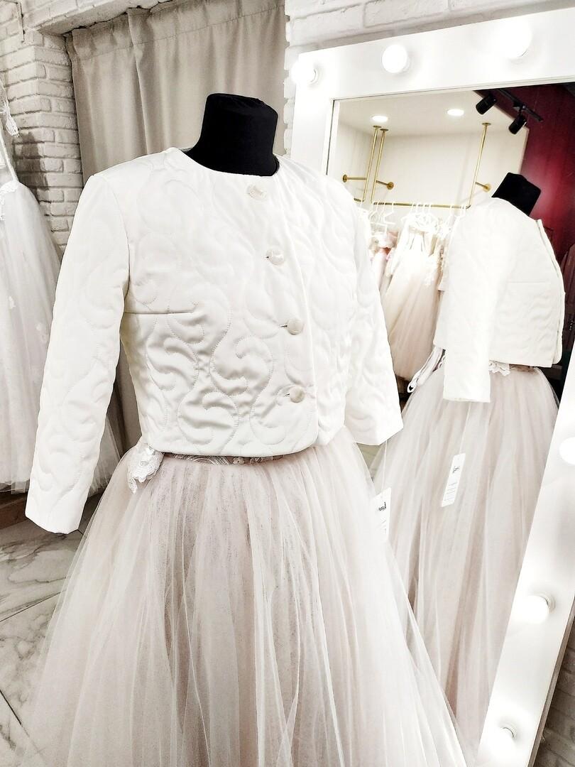 Куртка белая - узоры