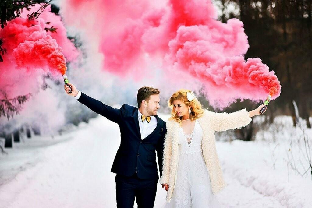 Дым цветной (розовый)