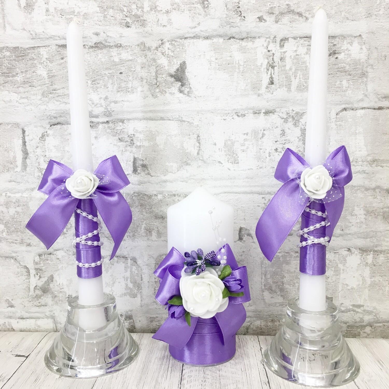 Семейный очаг (фиолетовый с белой розой)