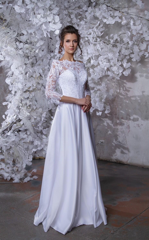 """Свадебное платье """"Алинка"""" (атлас)"""