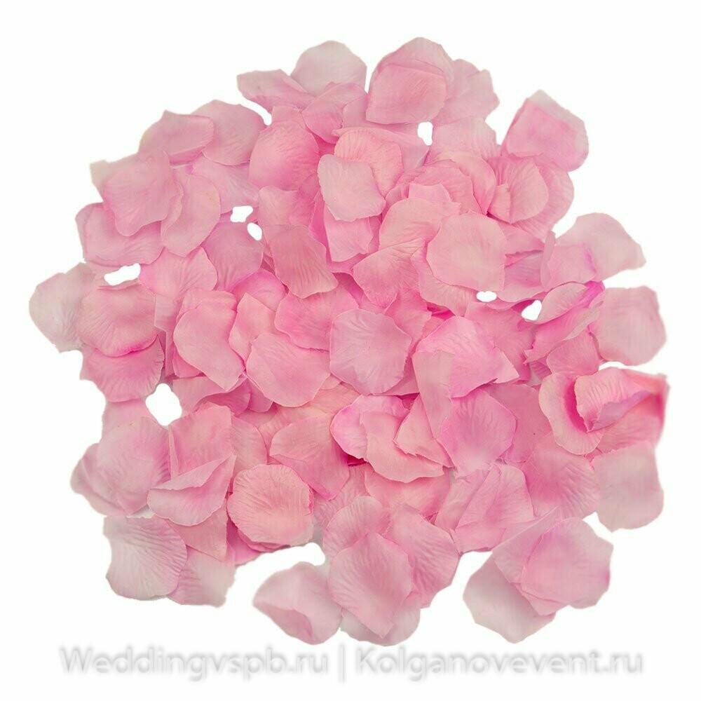 Лепестки роз искусственные (розовые)