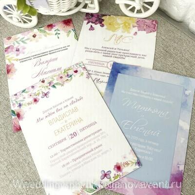 Изготовление магнитных приглашений на свадьбу