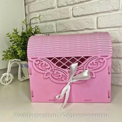 Семейный банк (деревянный, розовый)