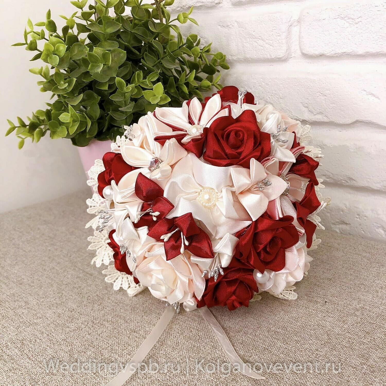 Букет дублер в цвете марсала (ручной работы)