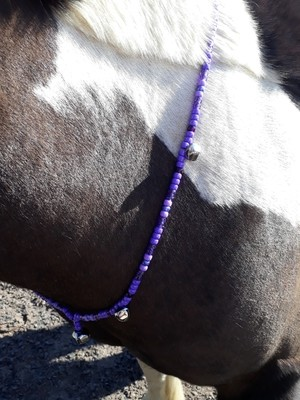 CAITLIN Rhythm Beads for horses in PURPLE & LILAC, with silver bells.