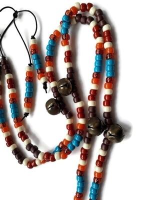 KAI Rhythm Beads in DK BROWN, TURQUOISE, RUST, ORANGE & CREAM