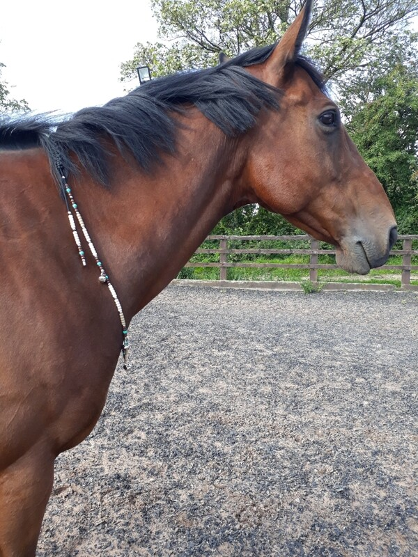 APACHE Rhythm Beads with safety  strap for horses one-size fits Cob/horse
