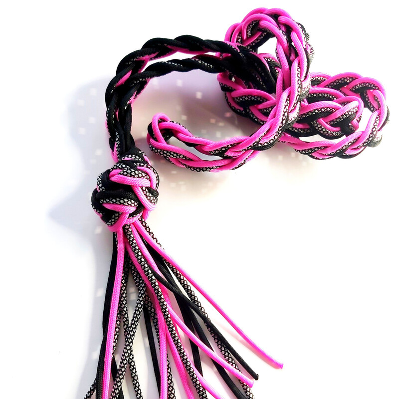 HERMIONE reflective neck rope pink only horse size LAST ONE!