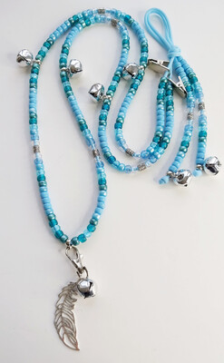 MISTY BLUE rhythm beads for horses and ponies