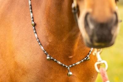 JET Rhythm Beads for horses in BLACK & SILVER