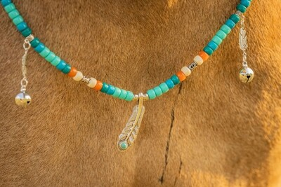 FEATHER rhythm beads for horses, ponies and equines