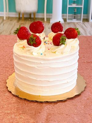 Strawberry Shortcake Party Cake