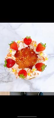Strawberry Milkshake Party Cake