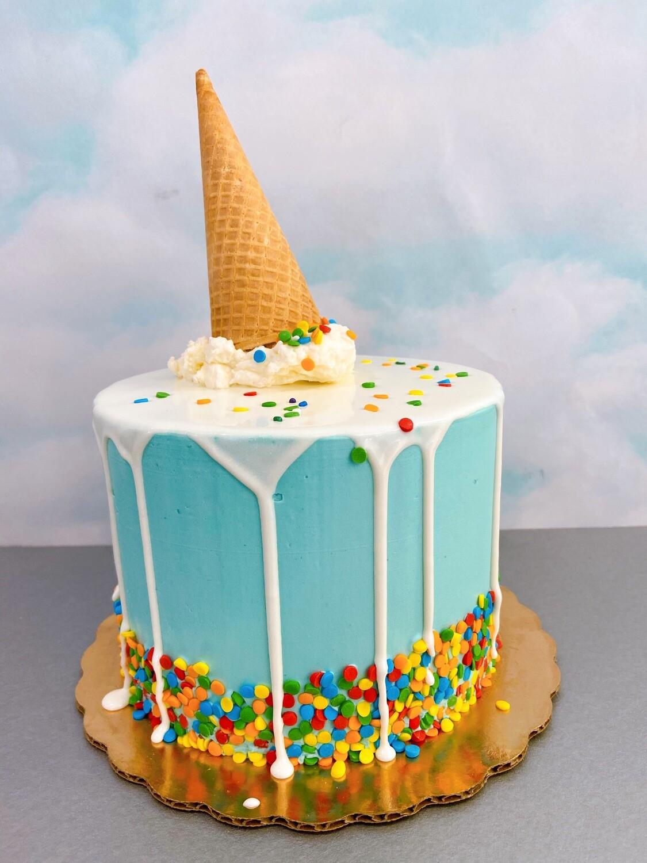 Ice Cream Sundae Party Cake