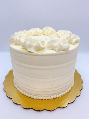 White Almond Raspberry Cake