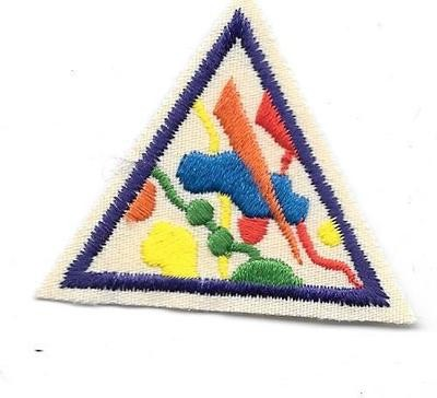 Colors and Shapes Purple Border 1986-1999