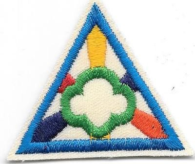 Girl Scout Ways Blue Border 1986-1999