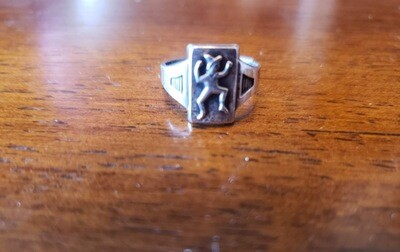 Brownie Ring 1943-59 Sterling Silver adjustable