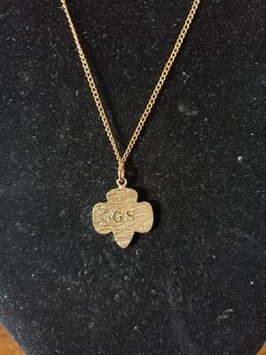 GS Pendent.  1968-? 22K gold  Original chain