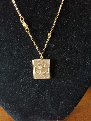 GS Locket 1949-? 14K gold plate.  Original chain