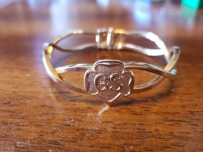 GS Hinge Bracelet 1967 Gold Plate