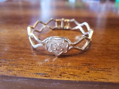 GS Hinge Bracelet 1964 Gold plate