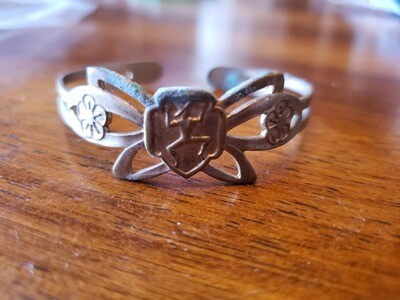 Brownie butterfly bracelet.  1953  14k gold plate.  Needs cleaning