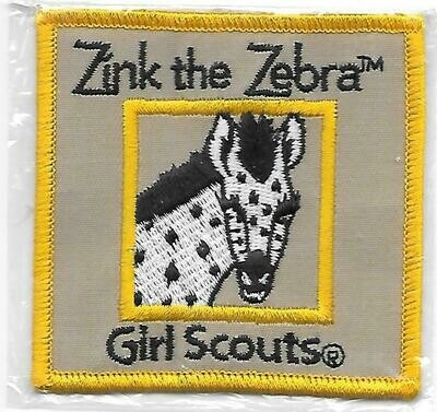 Zinc the Zebra yellow border program patch