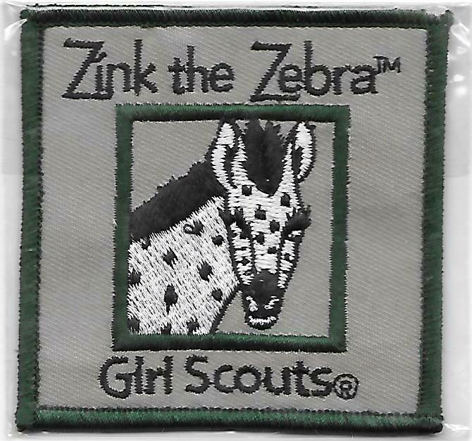 Zinc the Zebra green border program patch