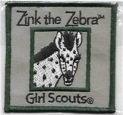 Zinc the Zebra green border program patch