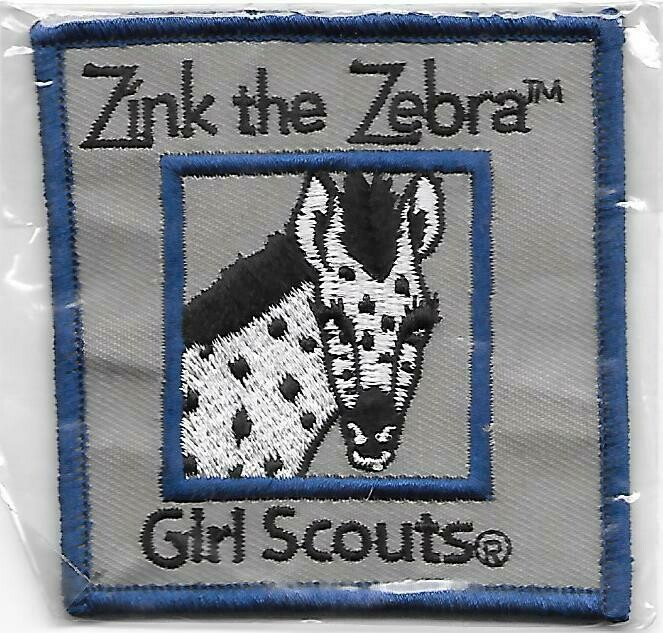 Zinc the Zebra blue border program patch