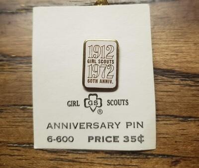60th Anniversary Pin 1972