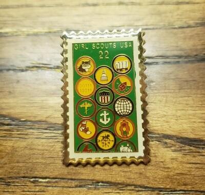 75th Anniversary Stamp Pin 1987