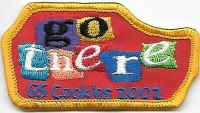 Base Patch (curved)  Go There Cookies 2002 ABC