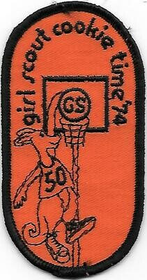 50 Girl Scout Cookie Time 1974 (maybe error patch?)  Burry Baker