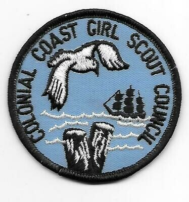 Vintage Colonial Coast GSC council patch
