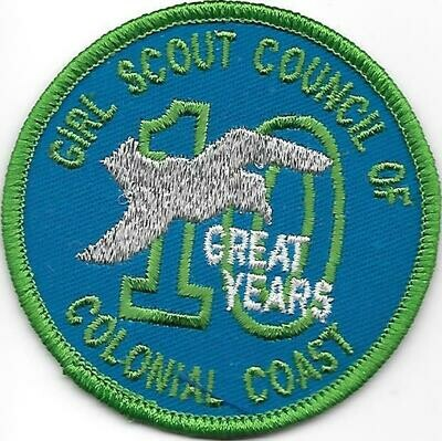 Vintage Colonial Coast GSC 10th Anniversary council patch