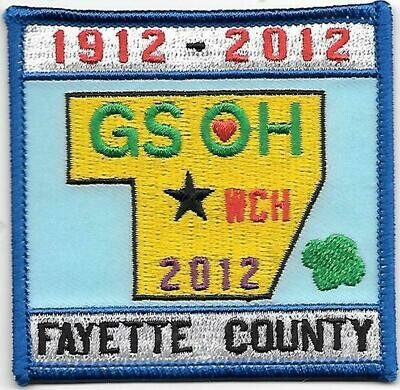GSOH 100th Anniversary Patch (Fayette County)