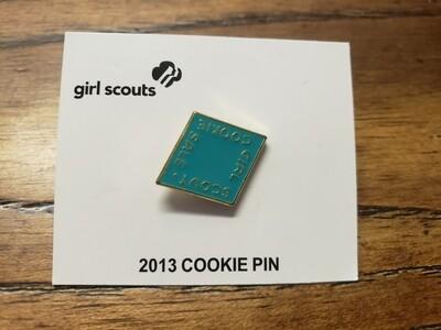 2013 Teal Metal Cookie Pin