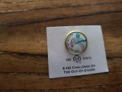 Cadette The Out of Doors Challenge Pin 1972-1980