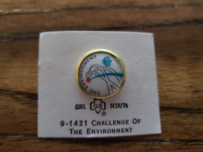Cadette The Environment Challenge Pin 1972-1980