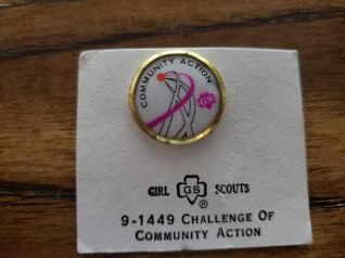 Cadette Community Action Challenge Pin 1972-1980