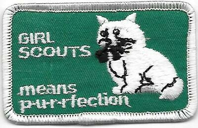 Girl Scouts means p-u-r-rfection