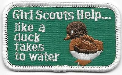 Girl Scouts Help....like a duck takes to water