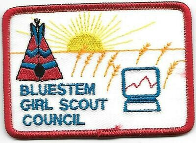 Bluestem GSC council patch (Oklahoma)