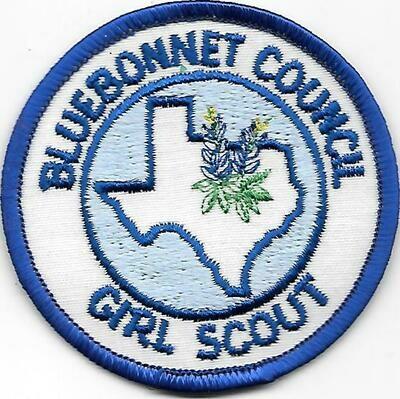 Bluebonnet Council GS council patch (Texas)